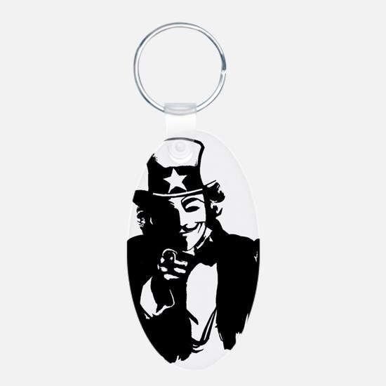 Guy Fawkes as Uncle Sam Keychains