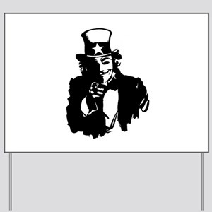 Guy Fawkes as Uncle Sam Yard Sign