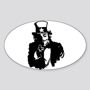 Guy Fawkes as Uncle Sam Sticker