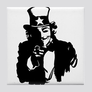 Guy Fawkes as Uncle Sam Tile Coaster
