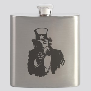 Guy Fawkes as Uncle Sam Flask