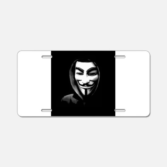 Guy Fawkes in a Sweatshirt Aluminum License Plate