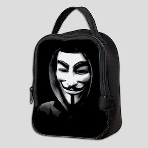 Guy Fawkes in a Sweatshirt Neoprene Lunch Bag