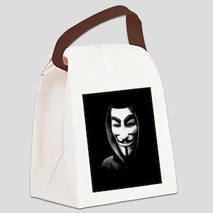 Guy Fawkes in a Sweatshirt Canvas Lunch Bag