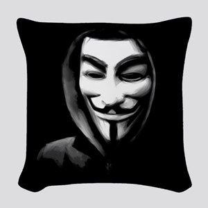 Guy Fawkes in a Sweatshirt Woven Throw Pillow