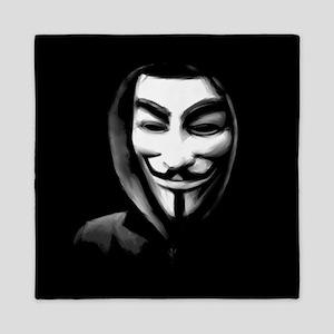 Guy Fawkes in a Sweatshirt Queen Duvet