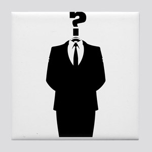 Anonymous Suit with a Question Mark as a Head Tile