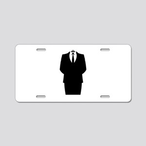 Suit Stencil Aluminum License Plate