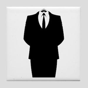 Suit Stencil Tile Coaster