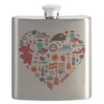 Spain World Cup 2014 Heart Flask