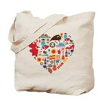 Spain World Cup 2014 Heart Tote Bag