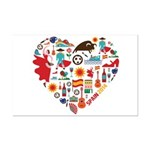 Spain World Cup 2014 Heart Mini Poster Print