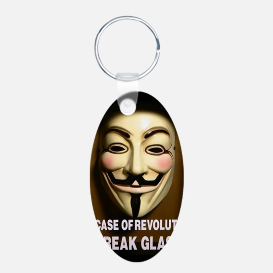 In case of revolution, break glass. Keychains