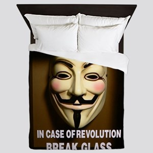 In case of revolution, break glass. Queen Duvet
