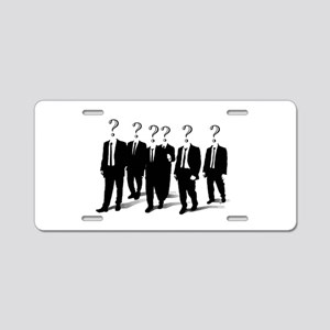 Suits with question marks as heads Aluminum Licens