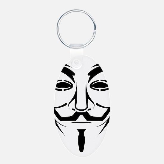 Guy Fawkes Stencil Keychains
