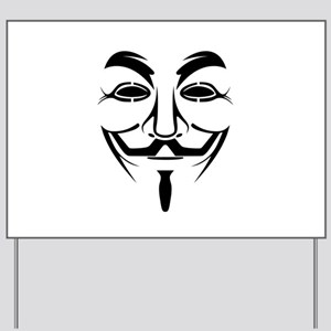 Guy Fawkes Stencil Yard Sign