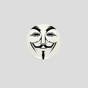 Guy Fawkes Stencil Mini Button