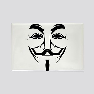 Guy Fawkes Stencil Magnets