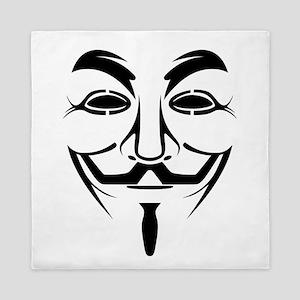Guy Fawkes Stencil Queen Duvet