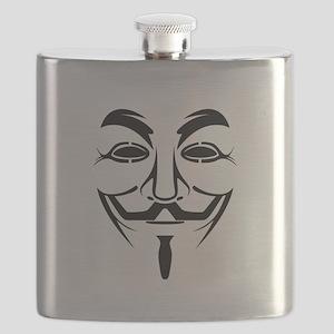 Guy Fawkes Stencil Flask