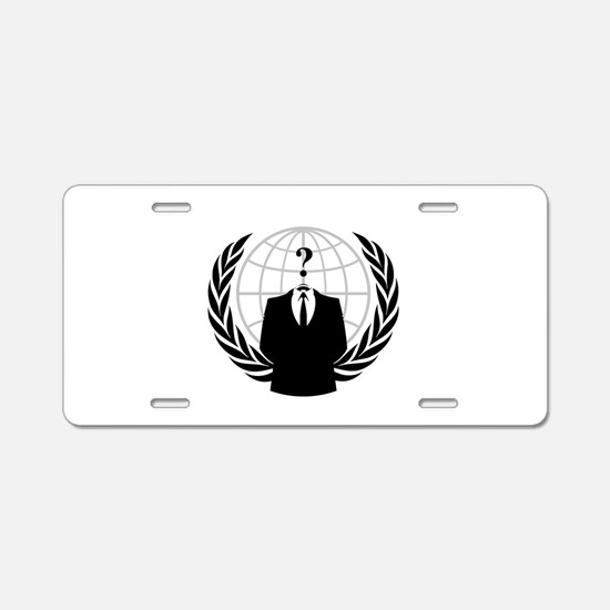 Anonymous Seal Aluminum License Plate