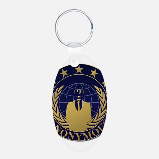 AnonymousSealBlueGold Keychains