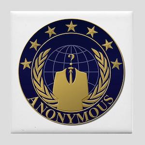 AnonymousSealBlueGold Tile Coaster