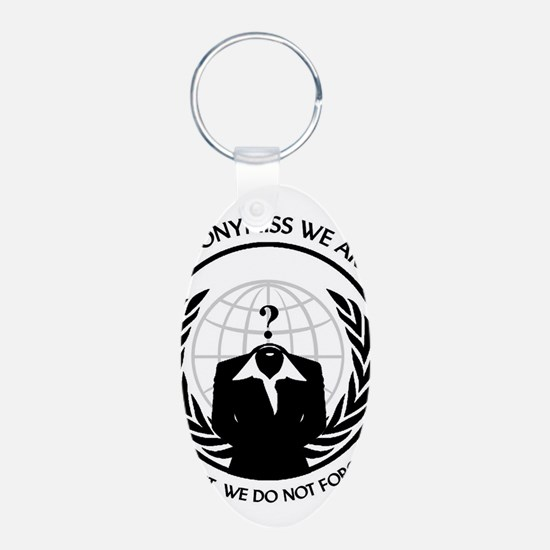 Anonymiss seal with words around the edge Keychain
