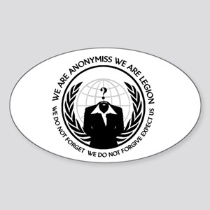 Anonymiss seal with words around the edge Sticker