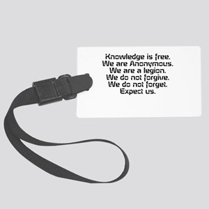 Knowledge is free.1 Luggage Tag