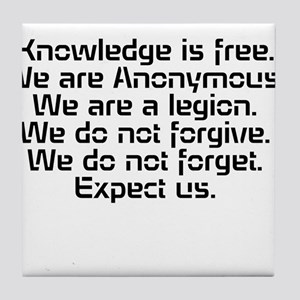 Knowledge is free.1 Tile Coaster
