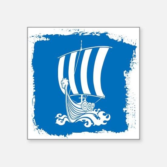 """Cute Boats Square Sticker 3"""" x 3"""""""