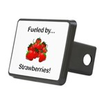 Fueled by Strawberries Rectangular Hitch Cover