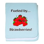 Fueled by Strawberries baby blanket