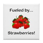 Fueled by Strawberries Tile Coaster