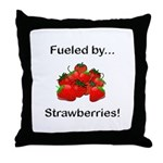 Fueled by Strawberries Throw Pillow