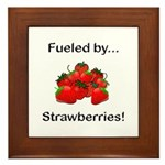 Fueled by Strawberries Framed Tile