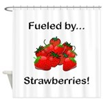 Fueled by Strawberries Shower Curtain