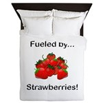Fueled by Strawberries Queen Duvet