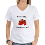 Fueled by Strawberries Women's V-Neck T-Shirt