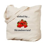 Fueled by Strawberries Tote Bag