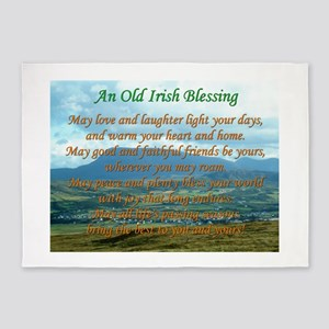 Old Irish Blessing #2 5'x7'Area Rug