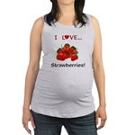 I Love Strawberries Maternity Tank Top