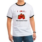 I Love Strawberries Ringer T