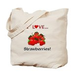 I Love Strawberries Tote Bag