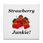 Strawberry Junkie Tile Coaster
