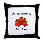 Strawberry Junkie Throw Pillow