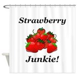 Strawberry Junkie Shower Curtain