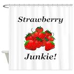Strawberry Junkie Shower Curtain